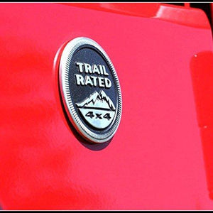 Trail rated logo installed on car