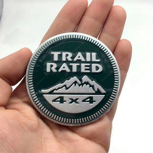 Trail rated Logo for car in green colour