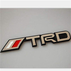 trd performance logo for toyota car in red & Chrome Colour