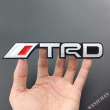 Load image into Gallery viewer, trd performance logo for toyota car in red & Chrome Colour