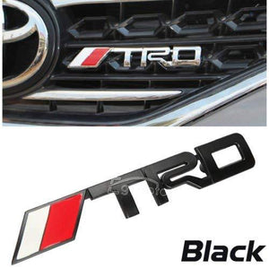 Installed trd racing sport logo in silver colour