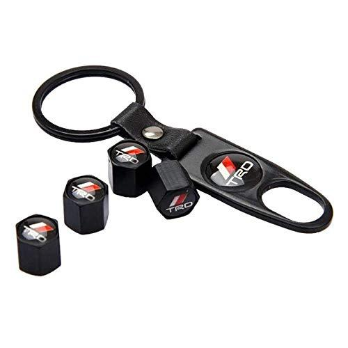 trd valve cap with keychain for all cars