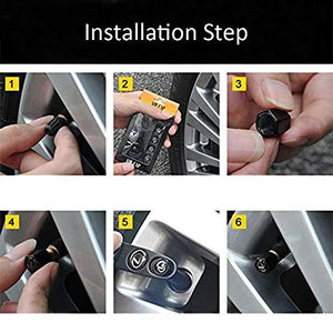 How to install tyre valve cap in car