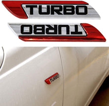 Load image into Gallery viewer, turbo metal logo in Red colour