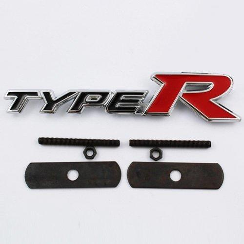 Type R Grill logo in black colour with screw