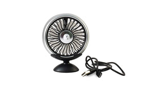 Silver USB Fan for car