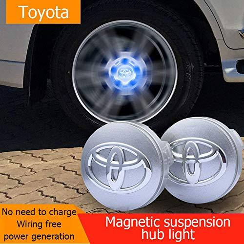 Magnetic suspension hub light for toyota car