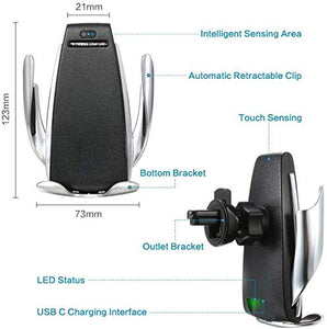 size & description of wireless mobile charger for car