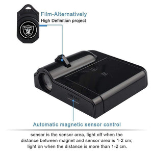 High definition projector with automatic magnetic sensor control for bmw shadow light kit