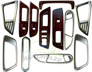 12 Pcs Wooden Interior for Ford Ecosport