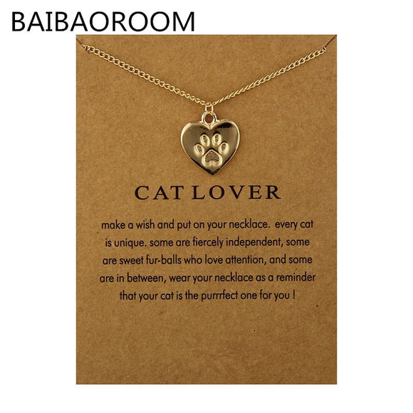 Cat Lovers Charm Necklace