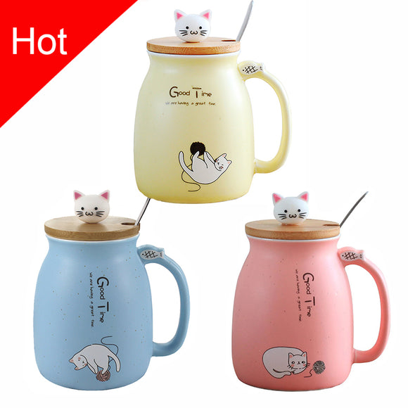 Porcelain Heat Resistant Cat Mug