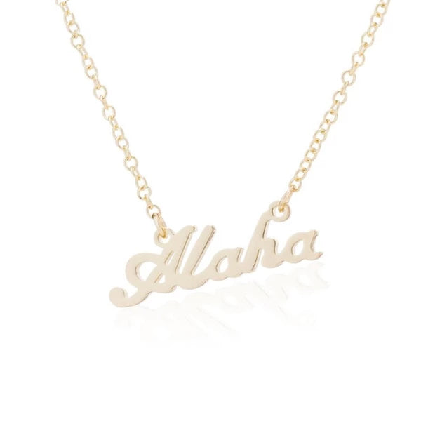 Aloha Pendant Necklace in 3 colors