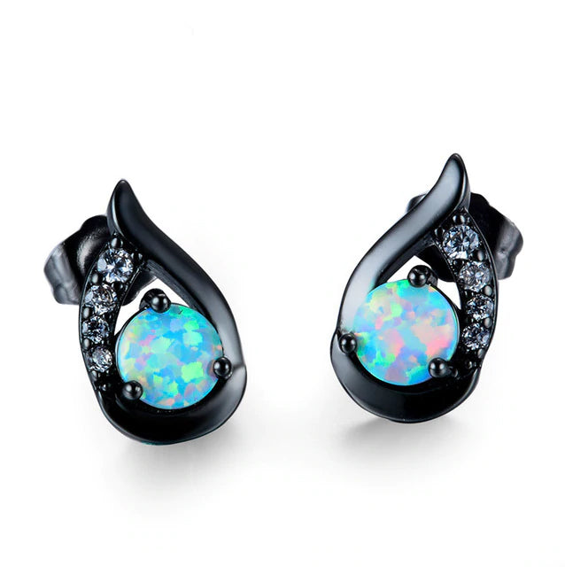 Opal Blue Earrings