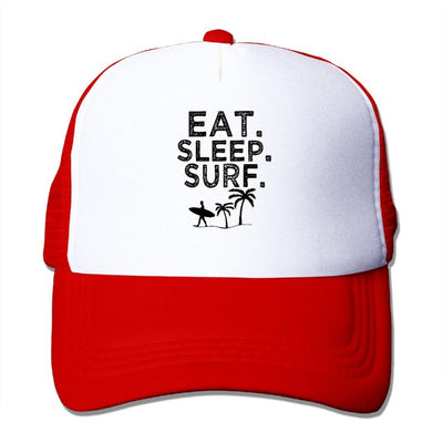 Eat Sleep Surf Cap