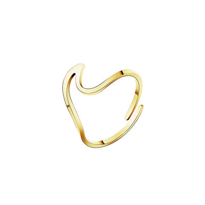 Gold Adjustable Wave Ring
