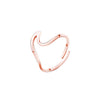 Rose Gold Adjustable Wave Ring