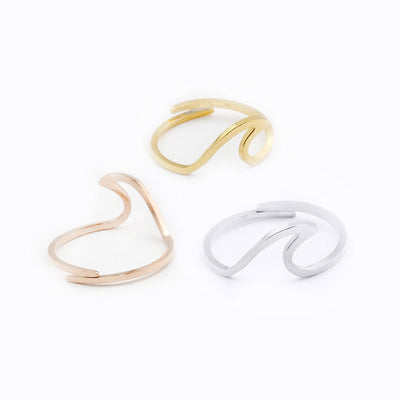 Adjustable Wave Ring Set