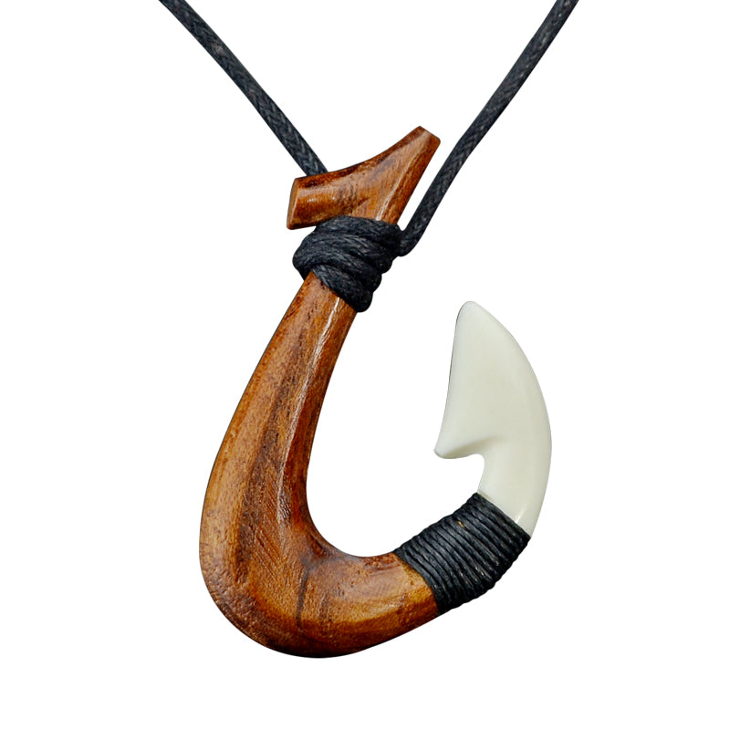 Wooden Surfer Necklace