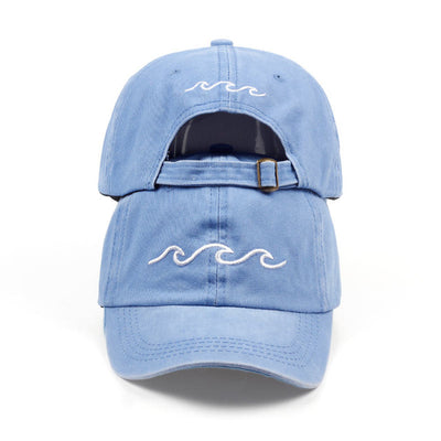 Mentawai Cap in sky blue with white waves