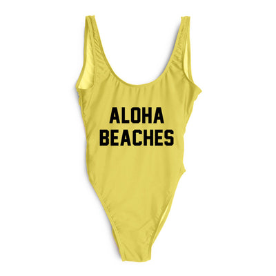 Aloha Swimsuit - Yellow