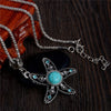 Big Starfish Necklace with a silver chain and a starfish charm
