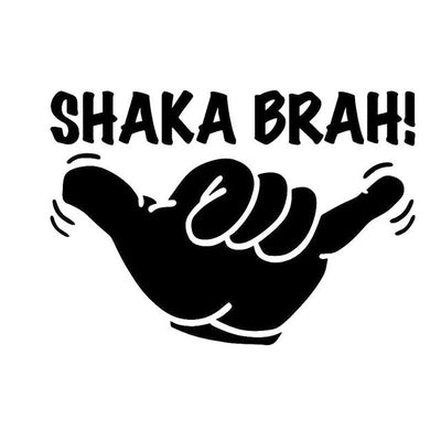 Shaka Sticker in black variant