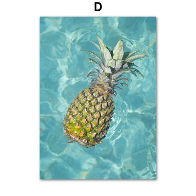 Seascape Canvas of a pineapple in the sea, representing Aloha Spirit