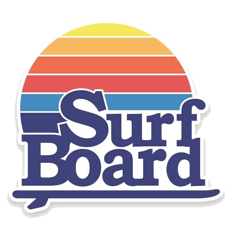 Surfboard Sticker for car