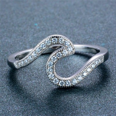 Crystals Wave Ring