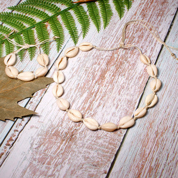 Cowrie Shell Kit Bracelet & Necklace