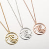 Sea Wave Pendant Necklace in three variants