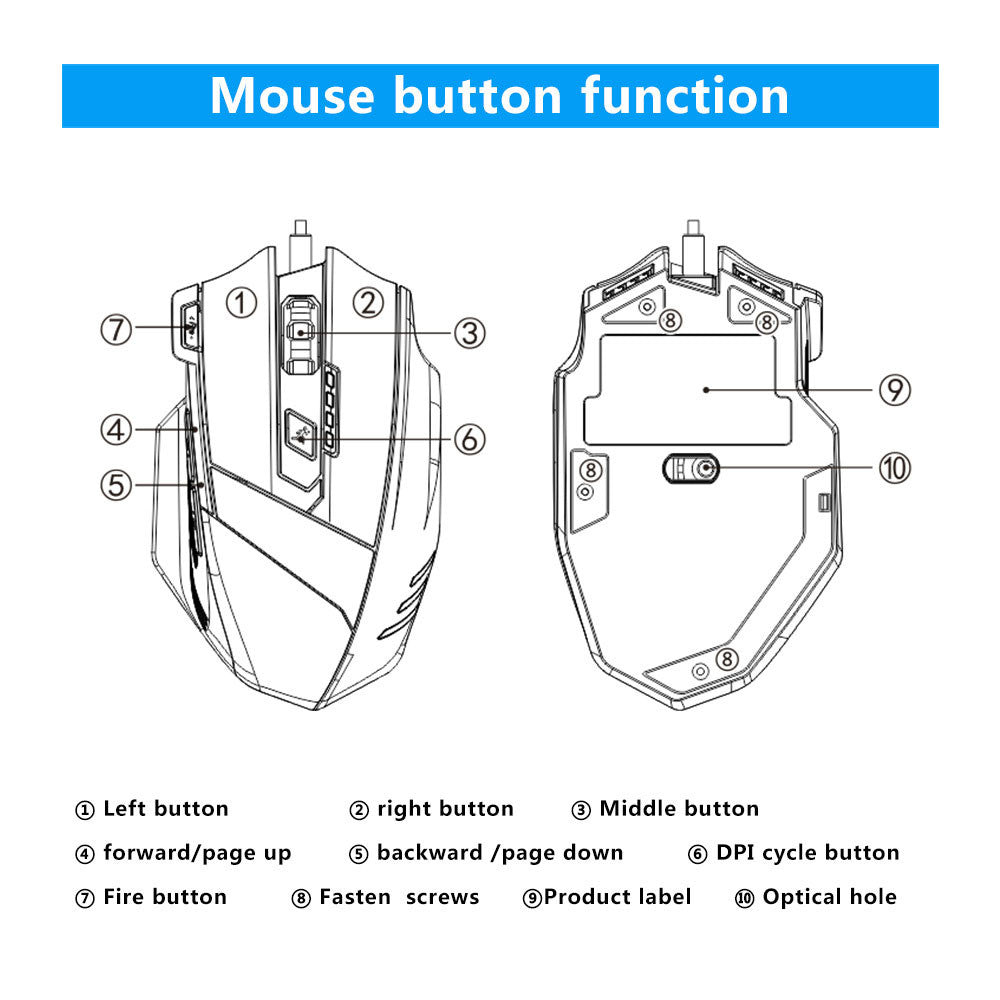 Usb Wired Mouse Mechanics Feeling Optical Mice Wiring Diagram Color Load Image Into Gallery Viewer