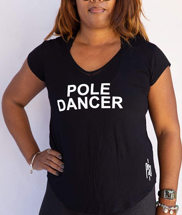Tee - V Neck - Pole Dancer