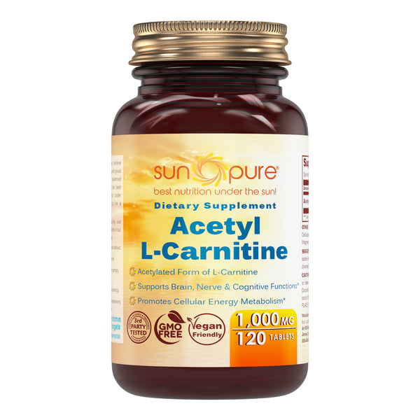 Sun Pure Acetyl L Carnitine 1000 Mg 120 Tablets