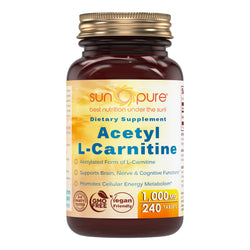 Sun Pure Premium Quality Acetyl L Carnitine 1000 Mg 240 Tablets