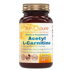 Sun Pure Premium Quality Acetyl L-Carnitine 1000 Mg 60 Tablets
