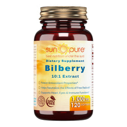 Sun Pure Premium Bilberry Extract 1000 Mg 120 Softgels