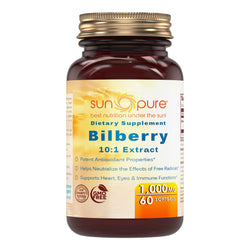 Sun Pure Bilberry Extract 1000 Mg 60 Softgels