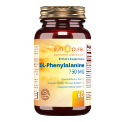 Sun Pure DL Phenylalanine 750 Mg 60 Tablets