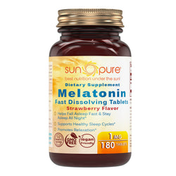 Sun Pure Fast Dissolving Melatonin 1Mg Strawberry Flavor 180 Tablets