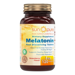 Sun Pure Melatonin Fast Dissolving Strawberry Flavor 5 Mg 120 Tablets