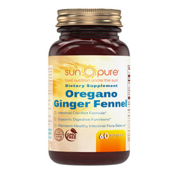 Sun Pure Premium Quality Oregano Ginger Fennel 60 Softgels