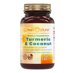 Sun Pure Premium Quality Turmeric & Coconut Oil 900 Mg 120 Softgels