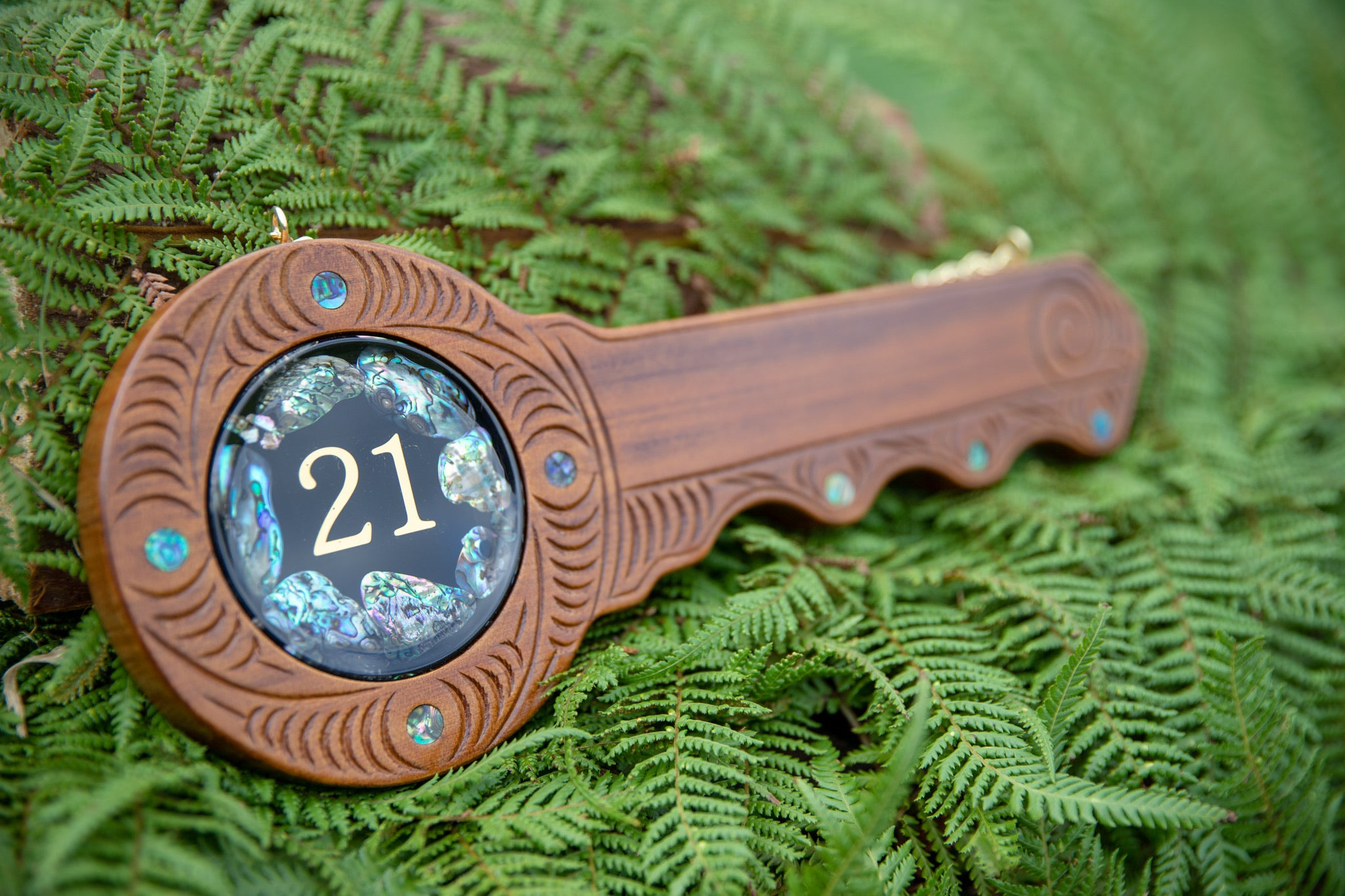 21st Key - Paua inlay