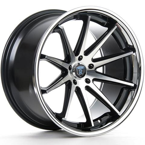 "20"" Rohana RC10 Wheels Machine Black Chrome Lip"