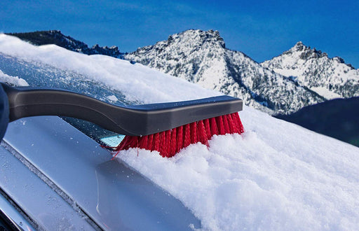 "26"" Cool Tool Snow Brush with Integrated Scraper and Foam Grip Handle (Colors may vary)"