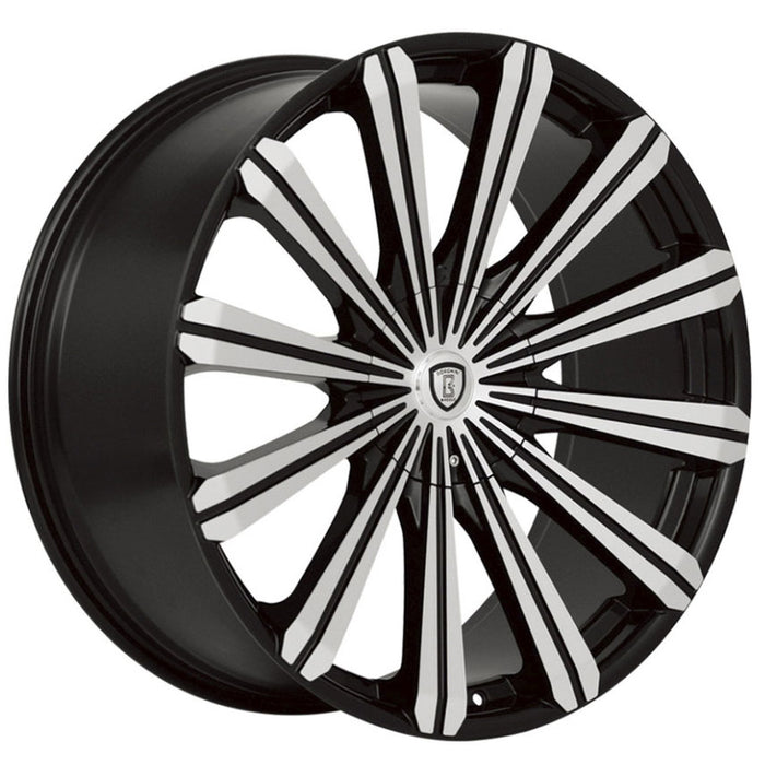 "18"" Borghini B18 Wheels Black Machine"