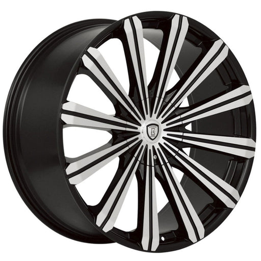 "24"" Borghini B18 Wheels Black Machine"
