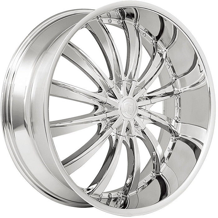 "24"" Borghini B19 Wheels Chrome"